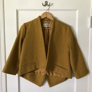 BB Dakota Cropped Wool Blazer - Size S